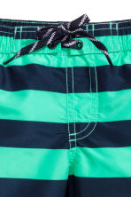 Patterned swim shorts - Mint green/Striped - Kids | H&M 2