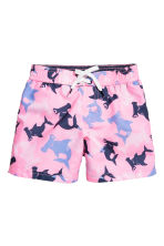 Patterned swim shorts - Translucent - Kids | H&M CN 1