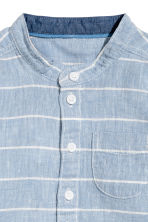 Linen-blend shirt - Blue/Striped - Kids | H&M 4