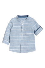 Linen-blend shirt - Blue/Striped - Kids | H&M 2