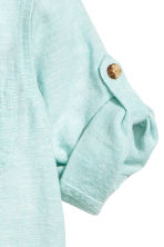 Linen-blend shirt - Mint green marl - Kids | H&M 3