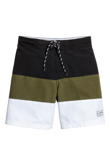 Costume da bagno color block - Nero/verde kaki -  | H&M IT 1