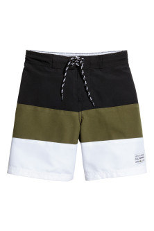 Block-coloured swim shorts