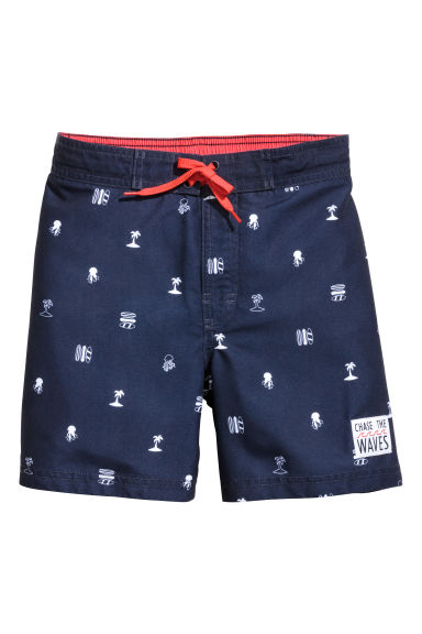 印花泳褲 - Dark blue/Palms - Kids | H&M