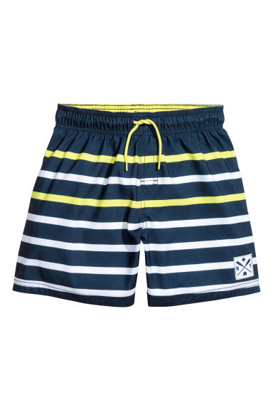 Swim shorts - Dark blue/Yellow -  | H&M CA 1