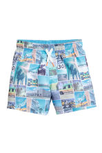 Swim shorts - Turquoise/Photo -  | H&M 1