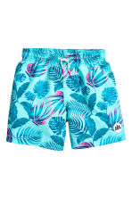 Swim shorts - Turquoise/Leaf - Kids | H&M CN 1