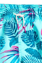 Swim shorts - Turquoise/Leaf - Kids | H&M CN 2
