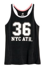 Débardeur training - Noir/New York -  | H&M FR 2