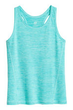Sports vest top - Turquoise marl - Kids | H&M CN 2