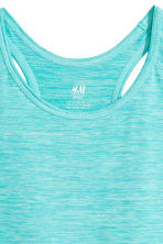 Sports vest top - Turquoise marl - Kids | H&M CN 3