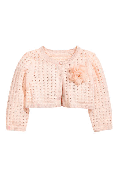 Fine-knit bolero - Powder pink - Kids | H&M CN 1