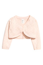 Fine-knit bolero - Powder pink -  | H&M 1