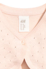 Fine-knit bolero - Powder pink -  | H&M 2