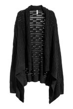 Hole-patterned cardigan - Black - Ladies | H&M 2