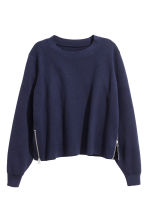 精織套衫 - Dark blue marl -  | H&M 2
