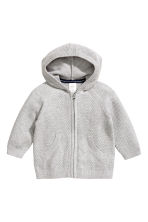 Hooded cardigan - Grey marl - Kids | H&M 1
