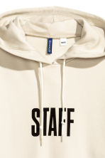 Printed hooded top - Light beige/Justin Bieber - Men | H&M 4