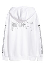Printed hooded top - White/Justin Bieber - Men | H&M GB 3