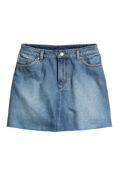 Short denim skirt - Denim blue - Ladies | H&M 1
