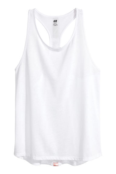 Sports vest top - White -  | H&M GB