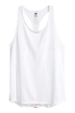 Sports vest top - White -  | H&M CA 1