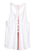 Sports vest top - White -  | H&M CA 2