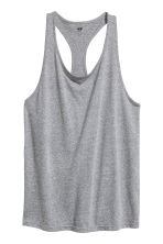 Sports vest top - Grey marl - Ladies | H&M CN 2