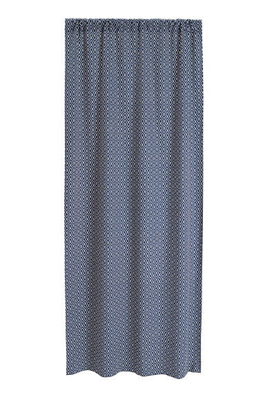 2-pack curtain lengths - Dark blue/White - Home All | H&M CN 1