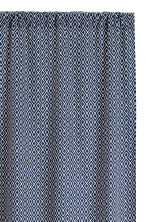 2-pack curtain lengths - Dark blue/White - Home All | H&M CN 2