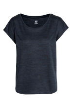 Sports top - Dark blue marl -  | H&M 2