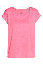 Sports top - Neon pink marl -  | H&M 2