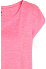 Sports top - Neon pink marl -  | H&M CN 3