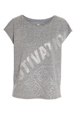 Sports top - Grey marl - Ladies | H&M 1