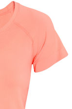 Seamless sports top - Neon coral - Ladies | H&M CN 3