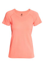 Seamless sports top - Neon coral - Ladies | H&M CN 2