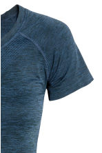 Seamless sports top - Dark blue marl -  | H&M 3