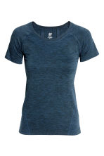 Seamless sports top - Dark blue marl -  | H&M 2