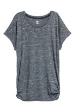 Sports top - Dark grey marl - Ladies | H&M CN 1