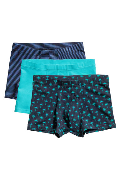 3-pack boxer shorts - Dark blue/Palms - Men | H&M