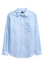 Linen shirt Relaxed fit - Light blue - Men | H&M CN 2