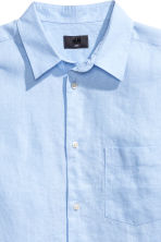 Linen shirt Relaxed fit - Light blue - Men | H&M CN 3
