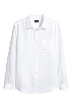 Linen shirt Relaxed fit - White - Men | H&M 2