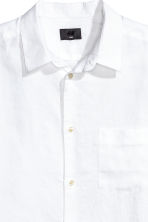 Linen shirt Relaxed fit - White - Men | H&M 3
