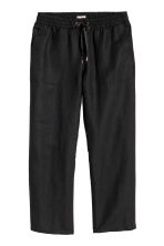 H&M+ Linen-blend trousers - Black - Ladies | H&M CN 2