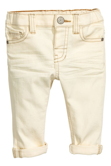 Stretch trousers Skinny Fit - Natural white - Kids | H&M CN 1