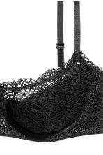 Lace balconette bra - Black - Ladies | H&M CN 3