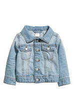 Denim jacket - Light denim blue - Kids | H&M CN 1