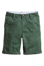 Chino shorts - Dark green -  | H&M 2