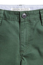 Chino shorts - Dark green -  | H&M 3